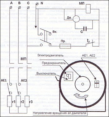 схема тепловентилятора
