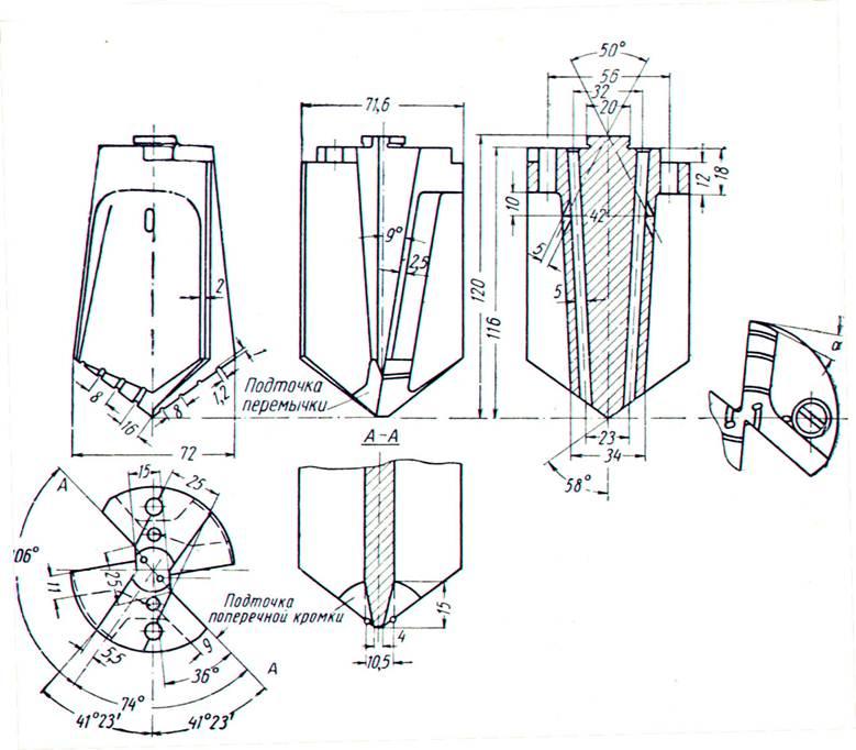 Анализ и обоснование выбора сверла для глубокого сверления  Рис 7 Сверло для глубокого сверления с двумя главными и двумя вспомогательными режущими кромками
