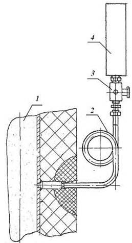 Схема установки манометра на