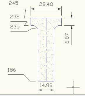 Описание: железобетонная балка с нанесенными размерами.jpg