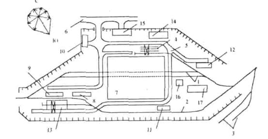 Схема генерального плана депо