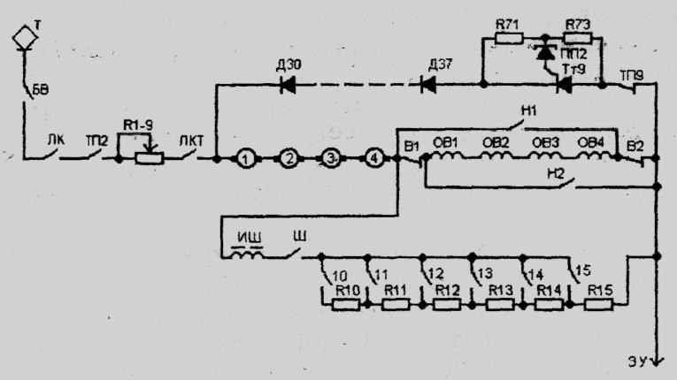 Силовая схема ЭР2Т
