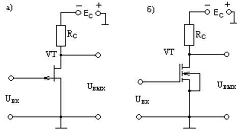 Схемы электронных ключей на ПТ