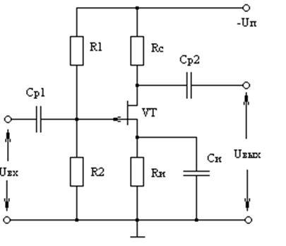 Схема резисторного усилителя
