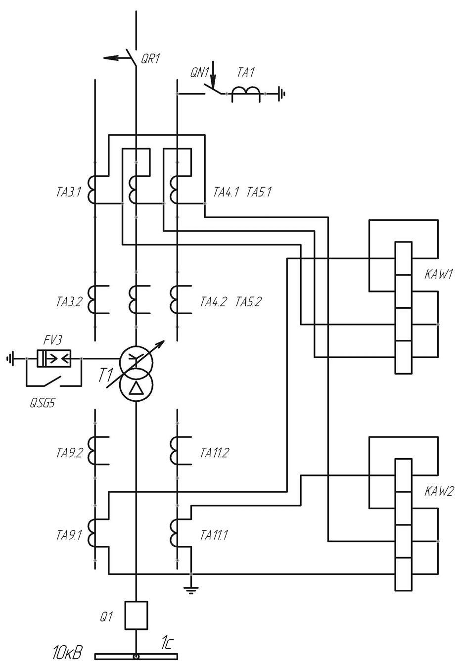 схема кабельной линии