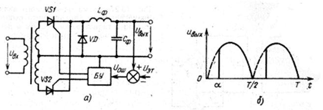 Схема однофазного управляемого