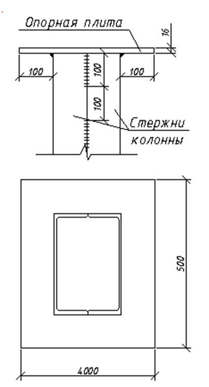2.1.5 База стальной колонны