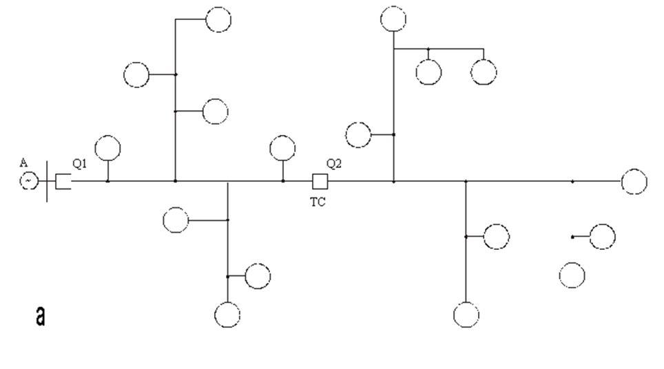 Схема сети с секционирующим