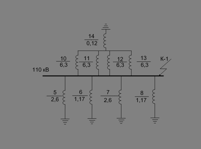 Рисунок 8.4 - Схема замещения