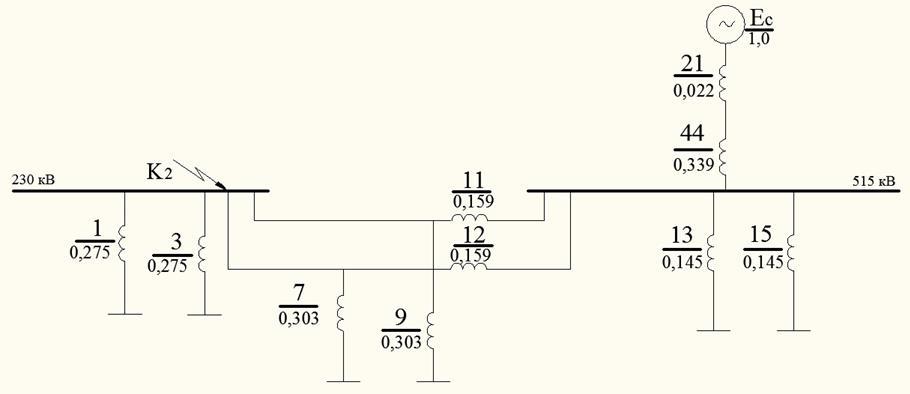 Рисунок 37- Схема замещения