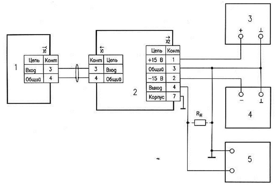 источник питания. блок согласования. датчик. вольтметр В7-27А.  Схема проверки коэффициента преобразования.
