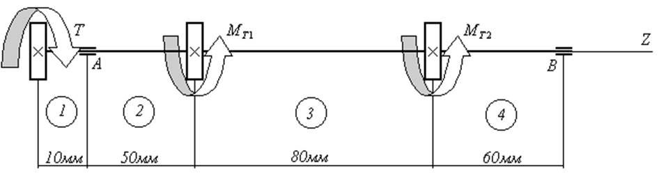 Расчетная схема горизонтальной