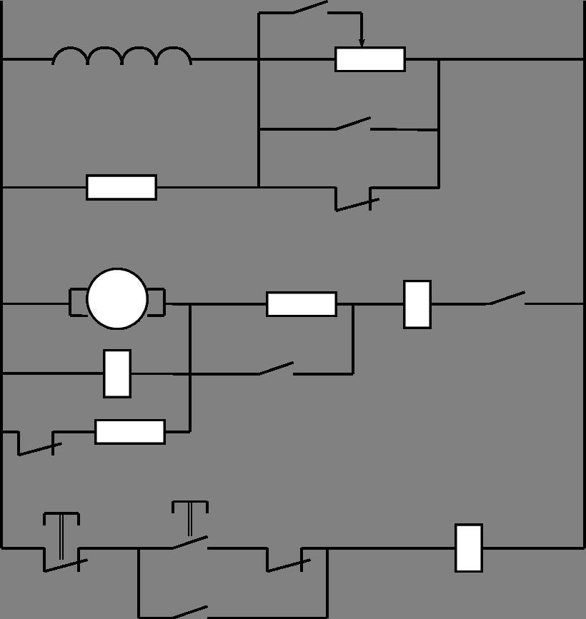 Описание работы типовых релейно-контакторных электрических схем управления электроприводами.