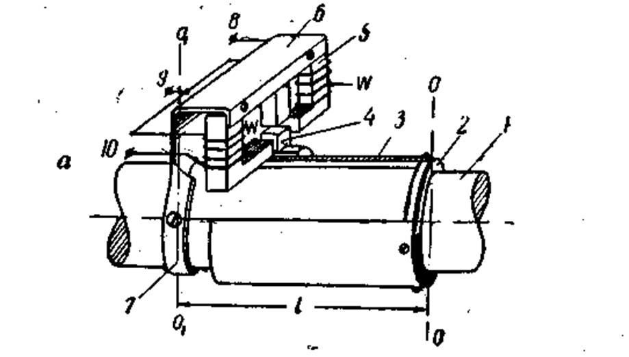 В качестве датчика для измерения малых угловых перемещений выбран индуктивный датчик.  Рис.1. На рис.1 показан...