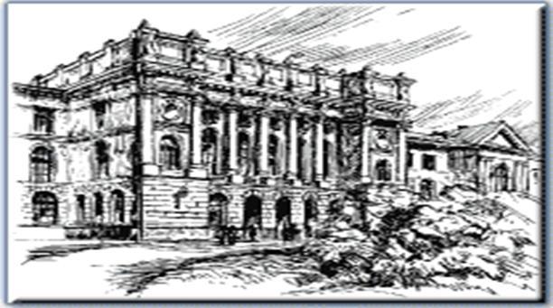 Изображение Центрального фасада Главного Здания СПбГТУ - 14 КВ