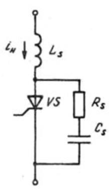 Типовая схема защиты тиристора