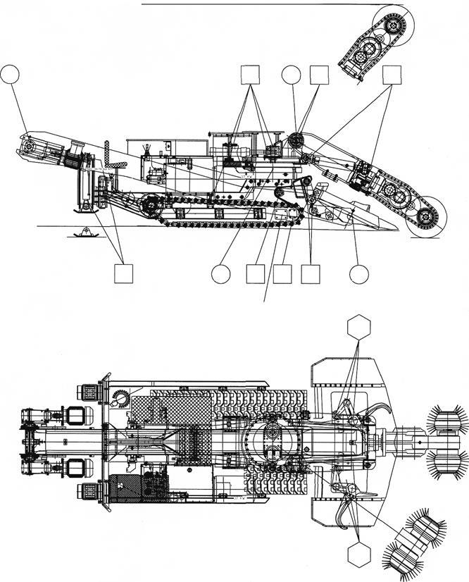 Схема смазки комбайна СМ-130К
