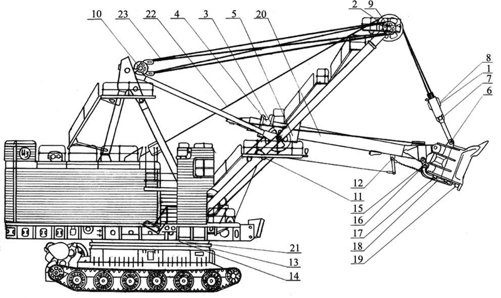 Схема смазки экскаватора ЭКГ-