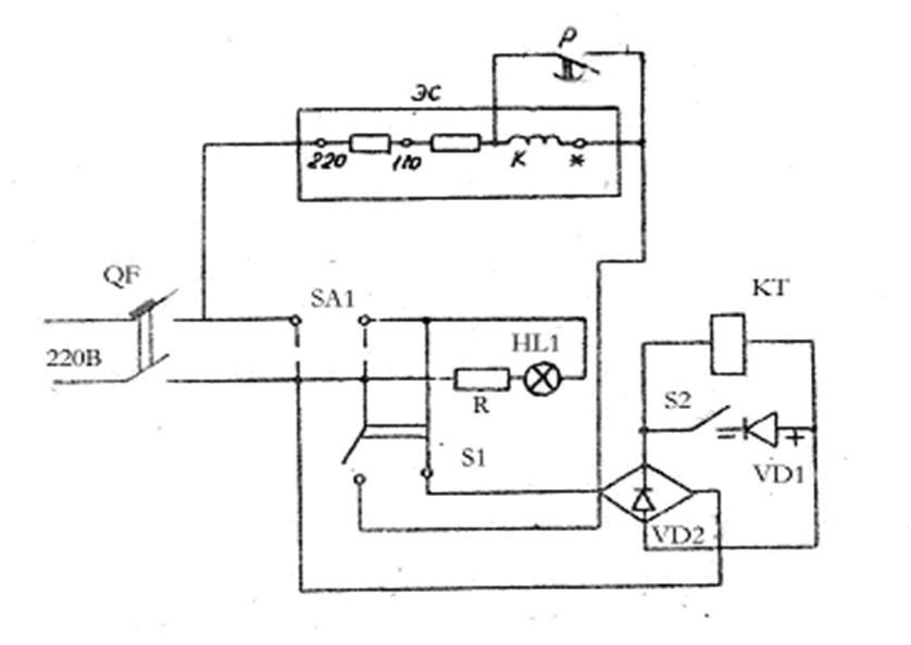 Рисунок 1 – Схема для