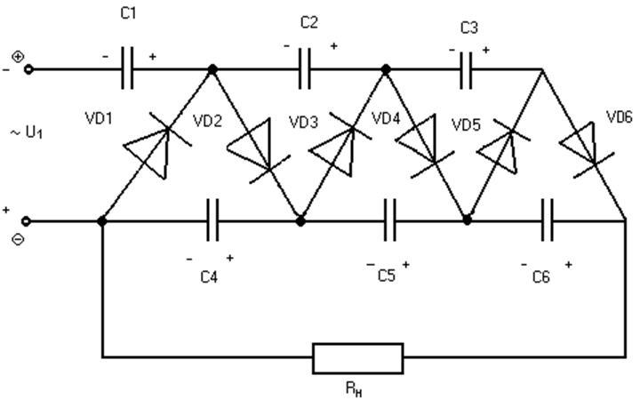 Каскадная схема умножения UH