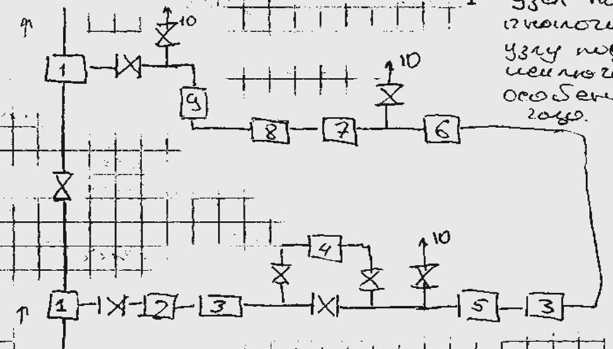 1-узел подключения КС к ГП