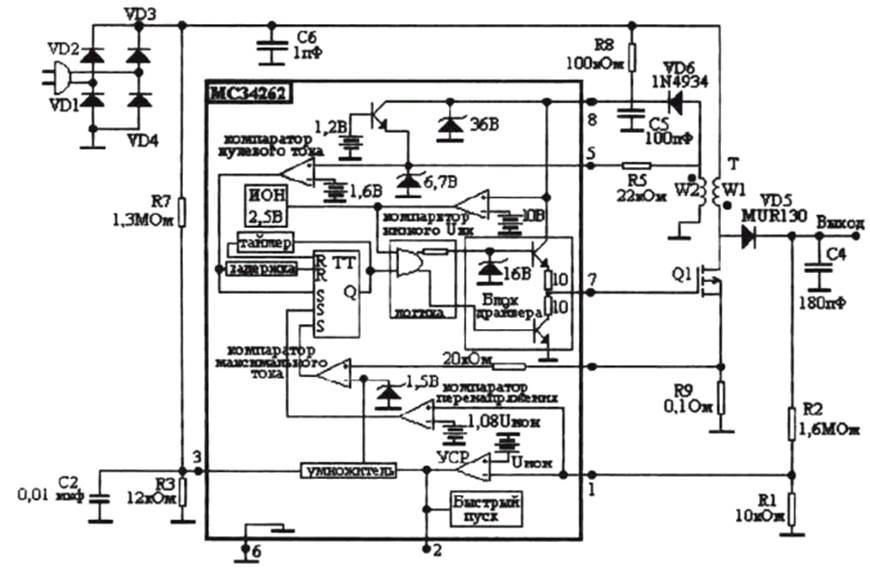 Схема корректора коэффициента