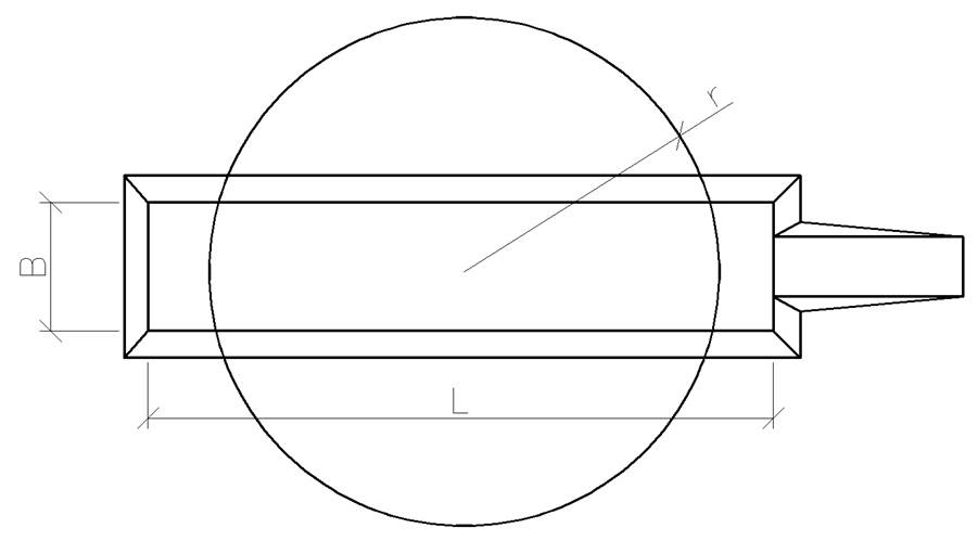 Рисунок 2 - Схема котлована