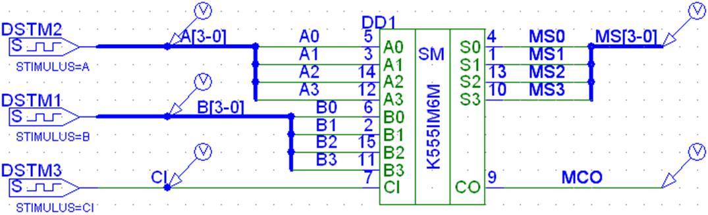 4-разрядный сумматор)) в