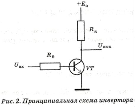 схема инвертора показана
