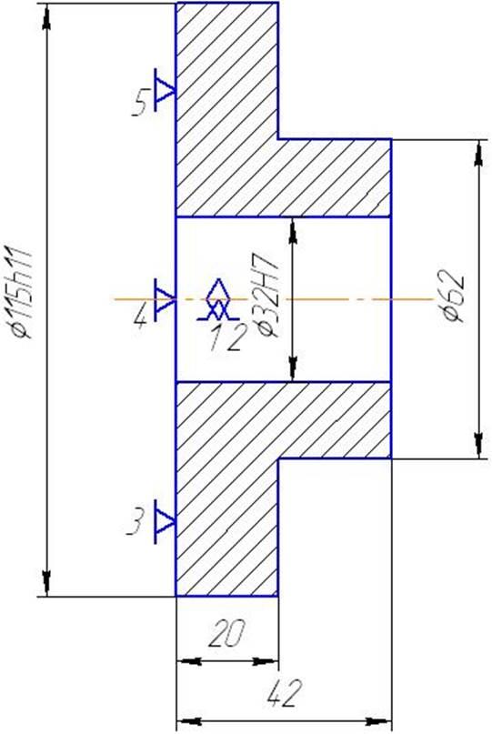Рисунок 2- Схема базирования