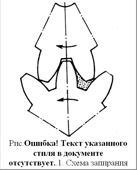 Рис.4.37. Схема запирания жидкости при отсутствии зазора по зацеплению