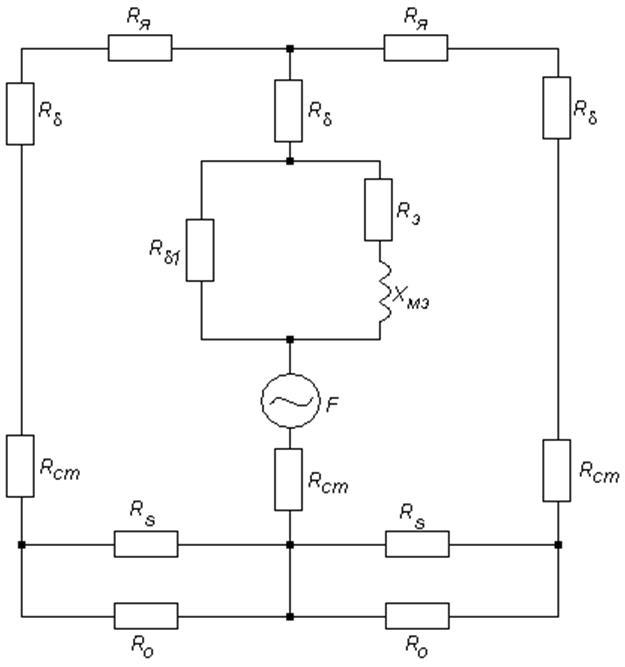 Схема замещения электромагнита