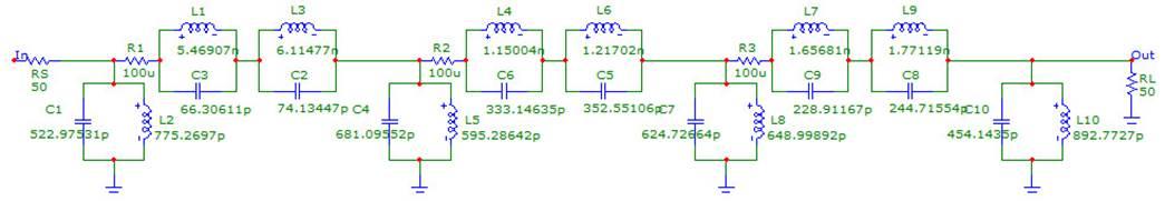Схема фильтра промежуточной