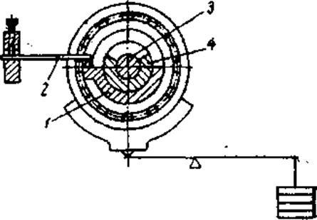 Схема узла трения: 1 - обойма;