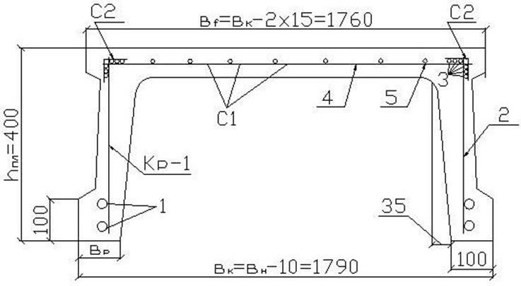 Рисунок 5.2 Схема армирования