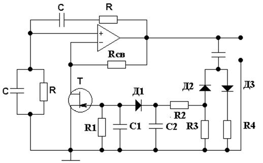 В схеме рисунка 4 напряжение