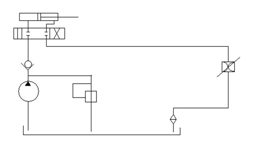 Типовая схема гидропривода: