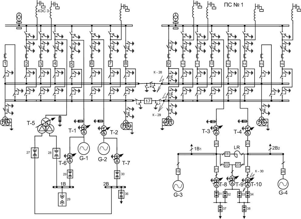 Изучение схем электроснабжения