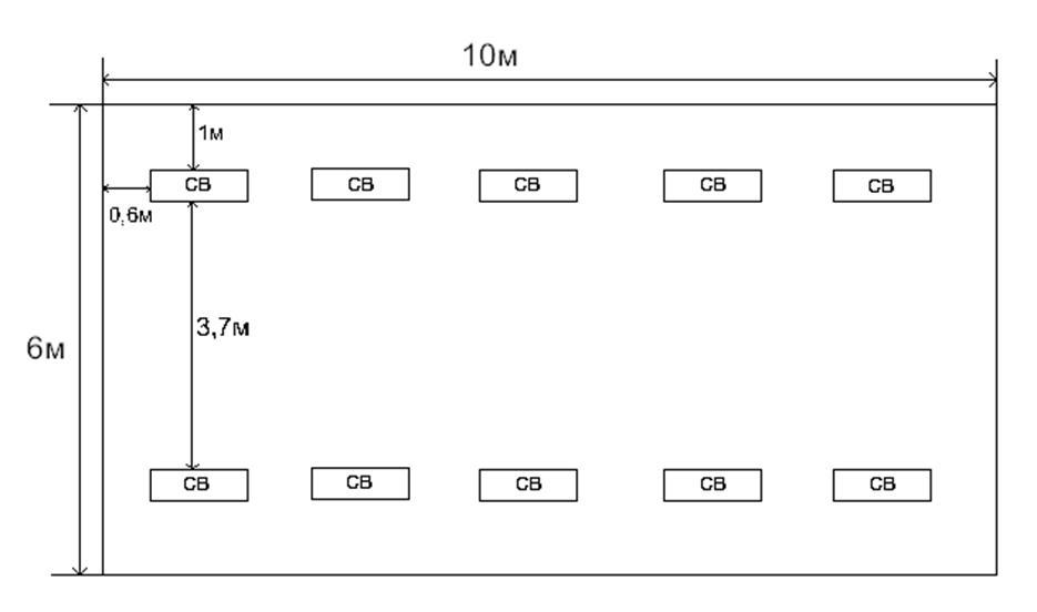 Рисунок 3.1 – Схема размещения