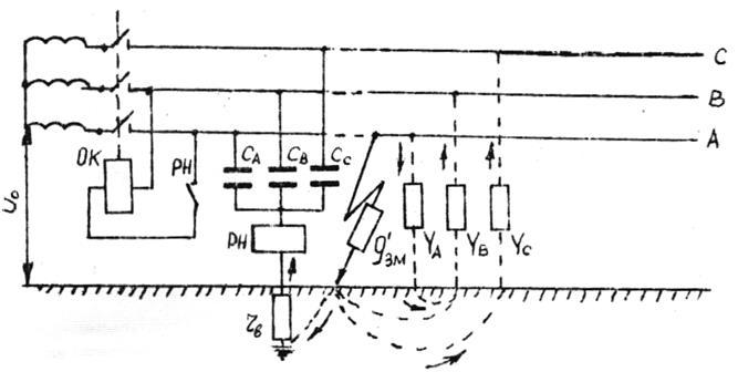 Схема УЗО, реагирующего на