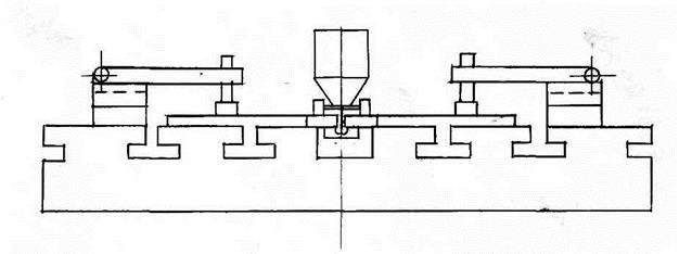 Схема сварки заготовок днищ.