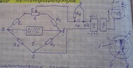 14000. Пинципиальная схема автоматического потенциометра.JPG