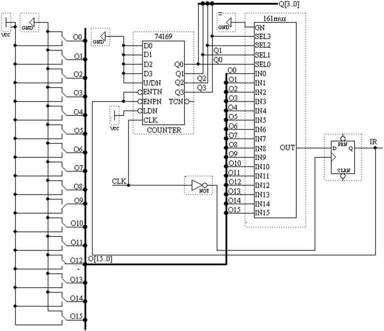 Схема шифратора клавиатуры.