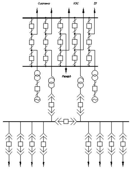 Рис. 2.1 Схема электрических