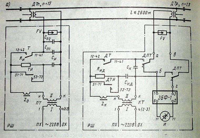 Рис. 1 Схема кодовой РЦ