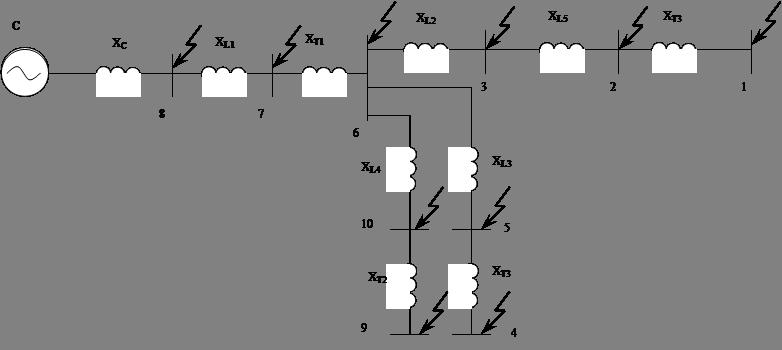 Схема замещения для расчётов