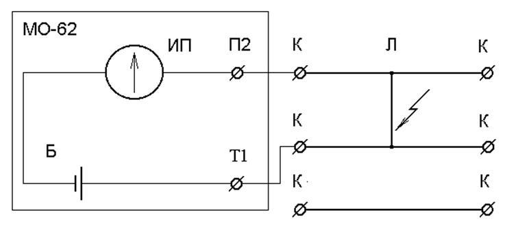 Схема определения замыкания