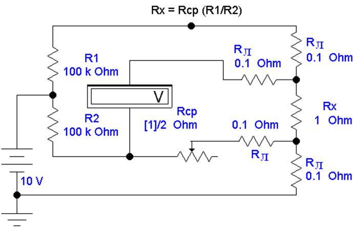 Рис 3.1 Четырехзажимная схема
