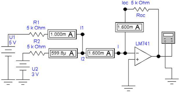 на резисторе Rос к R1 и R2