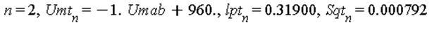 n = 2, Umt[n] = -1.*Umab+960., lpt[n] = .31900, Sqt[n] = 0.792e-3